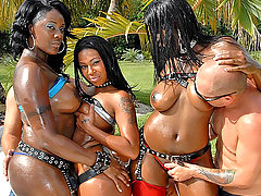 Check out this amazing ebony bikini party feat mecca that gets banged on the table with hot silver fucking pants
