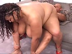 Lusty Ebony BBW in ebony porn films
