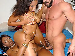 Mega ass double team of ebony ginourmous ass double team a hard white cock in these fucking vids