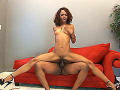 Skinny black bitch gets her butt fucked