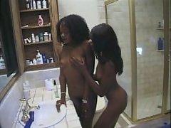 Ebony clit lickers in hardcore action