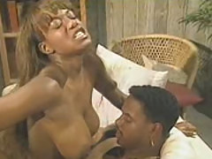 An ebony couple fuck like wildcats here