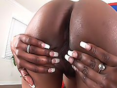 Dark skinned hottie has never been fucked as hard as this