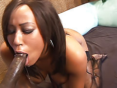 She cums from her pussy fucking, but she's even louder when her black ass is pounded hard